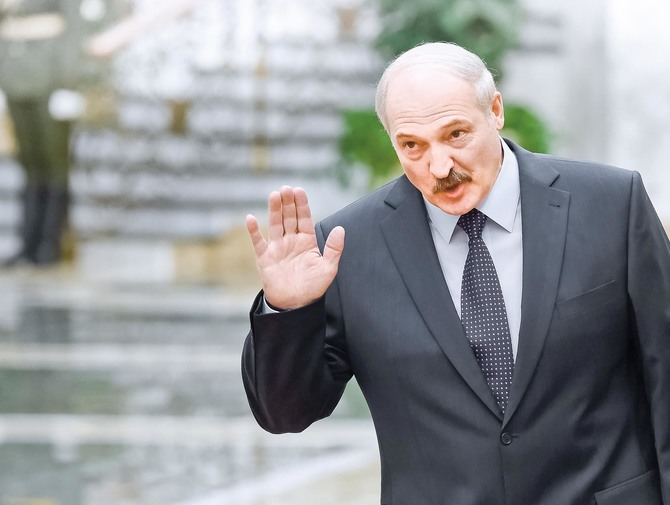 MISNK, BELARUS - FEBRUARY 11: Belarus President Alexander Lukashenko during peace talks over Eastern Ukraine on February 11, 2015 in Minsk, Belarus. The European leaders are meeting to discuss a cease-fire in the Ukraine. (Photo by Dmitry Azarov/Kommersant Photo via Getty Images).