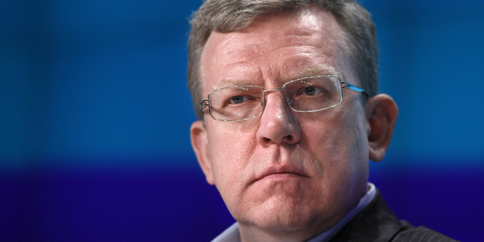 Russia's former Finance Minister Alexei Kudrin speaks during a news conference in Moscow, Russia, Thursday, May 24, 2012. Kudrin, Russia's former long-serving finance minister, has warned that Russia could face a dramatic drop in its GDP in case of a Greek default and a broader European debt crisis. (AP Photo/Mikhail Metzel)